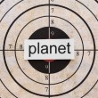 Stock Photo: Planet target