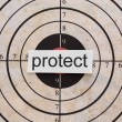 Protect target — Stock Photo