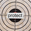 Royalty-Free Stock Photo: Protect target