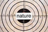Nature target — Stock Photo
