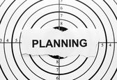 Planning target — Stock Photo