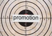 Promotion target — Stock Photo