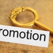 Promotion and key concept — Stock Photo