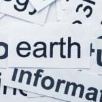 Earth word cloud — Stock Photo