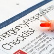 Emergency checklist — Stock Photo #8843602