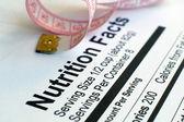 Voeding feiten en maatregel tape — Stockfoto