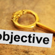 Objective concept — Stock Photo