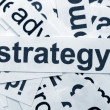 Strategy word cloud - Lizenzfreies Foto