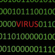Stock Photo: Virus on binary data