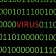 Virus on binary data — Stock Photo #8927298