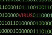 Vírus em dados binários — Foto Stock