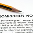 Promissory note — Stock Photo