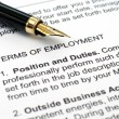 Employment contract — Stock Photo #9030329