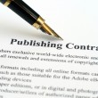 Publishing contract — Stock Photo