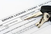 Driver license application — Stock Photo