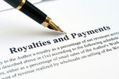 Royalties and payments — Foto de Stock