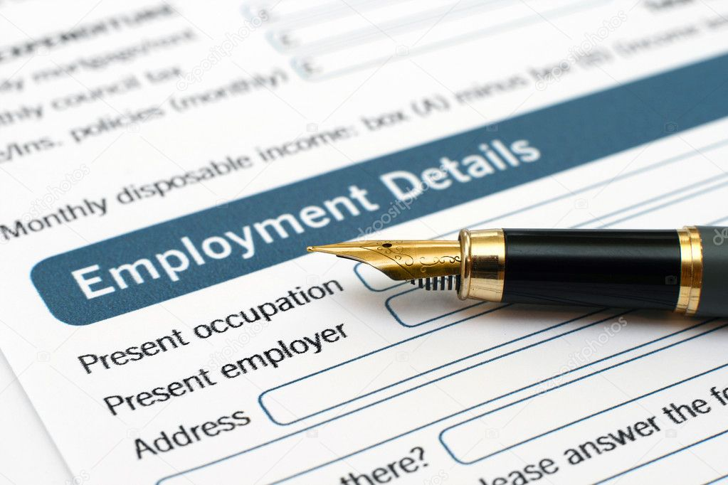 Employment form — Stock Photo #9049302