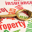 Stock Photo: Property and key concept