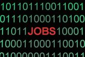 Jobs on binary data — Stock Photo