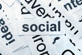 Social word cloud — Stock Photo