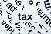 Tax word cloud — Stock Photo