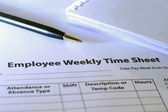 Employee time sheet — Stock Photo
