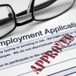Stock Photo: Employment application