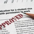 Stock Photo: Application for student visa