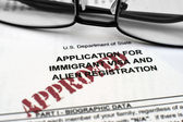 Application for immigrant visa — Stock Photo