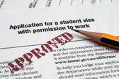 Application for student visa — Stock Photo