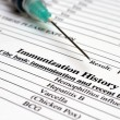 Immunization history — Stock Photo