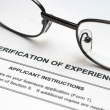 Verification of experience — Stock Photo