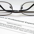 Professional experience form — Stock Photo