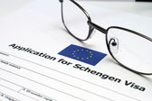 Application for Schengen visa — Stock Photo