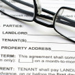 Stock Photo: Rental agreement