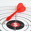 Dollar target — Stock Photo