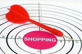 Shopping target — Stock Photo