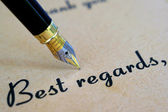 Best regards — Stock Photo