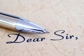 Dear sir — Stock Photo