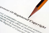 Copyrignt form — Stock Photo