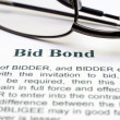Bid bond — Stock Photo