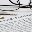 AUtomobile rental agreement — Stock Photo