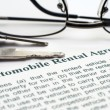 Stock Photo: AUtomobile rental agreement