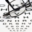 Eye chart — Stock Photo