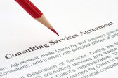 Consulting service agreement — Stock Photo