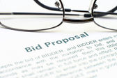 Bid proposal form — Stock Photo