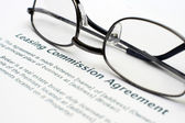 Leasing commision agreement — Stock Photo
