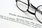 Trade acceptance form — Stock Photo