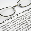 Stock Photo: Domain name license agreement
