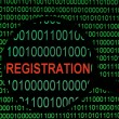 Registration — Stock Photo